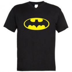 Мужская футболка  с V-образным вырезом Batman - FatLine