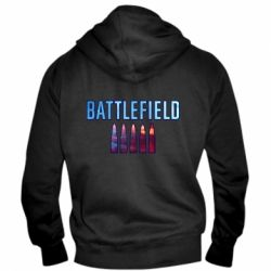Чоловіча толстовка на блискавці Battlefield 5 bullets