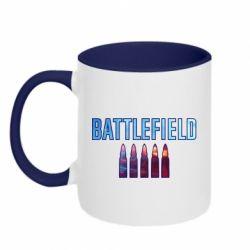 Кружка двоколірна 320ml Battlefield 5 bullets