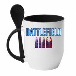 Кружка з керамічною ложкою Battlefield 5 bullets