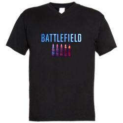 Чоловіча футболка з V-подібним вирізом Battlefield 5 bullets