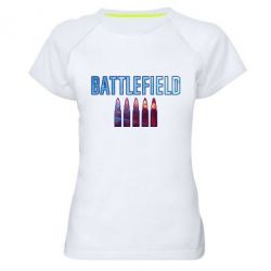 Жіноча спортивна футболка Battlefield 5 bullets
