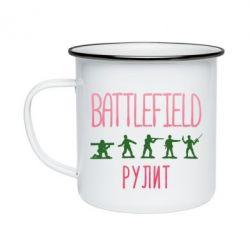 Кружка емальована Battlefield rulit