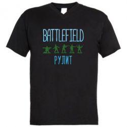 Чоловіча футболка з V-подібним вирізом Battlefield rulit