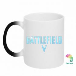 Кружка-хамелеон Battlefield V logotip