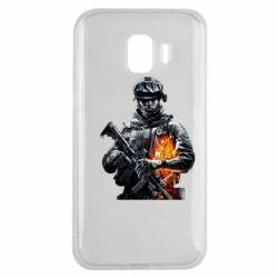 Чехол для Samsung J2 2018 Battlefield Warrior