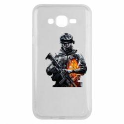 Чехол для Samsung J7 2015 Battlefield Warrior