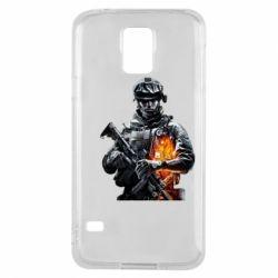 Чехол для Samsung S5 Battlefield Warrior