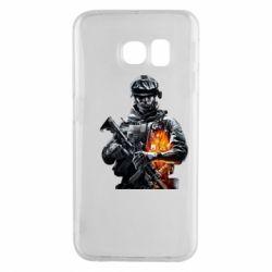Чехол для Samsung S6 EDGE Battlefield Warrior