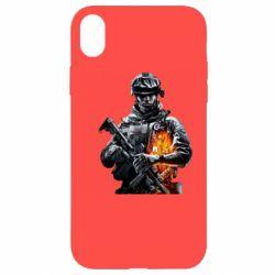 Чехол для iPhone XR Battlefield Warrior