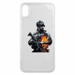 Чехол для iPhone Xs Max Battlefield Warrior