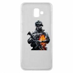 Чехол для Samsung J6 Plus 2018 Battlefield Warrior
