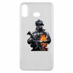 Чехол для Samsung A6s Battlefield Warrior
