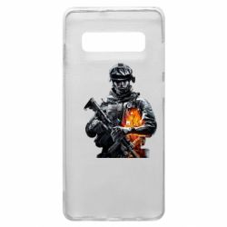 Чехол для Samsung S10+ Battlefield Warrior