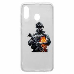Чехол для Samsung A20 Battlefield Warrior
