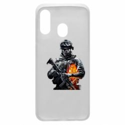 Чехол для Samsung A40 Battlefield Warrior