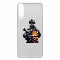 Чехол для Samsung A70 Battlefield Warrior