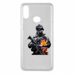 Чехол для Samsung A10s Battlefield Warrior