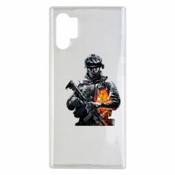 Чехол для Samsung Note 10 Plus Battlefield Warrior
