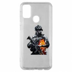 Чехол для Samsung M30s Battlefield Warrior