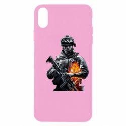 Чехол для iPhone X/Xs Battlefield Warrior