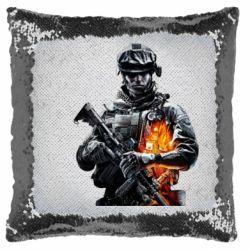Подушка-хамелеон Battlefield Warrior