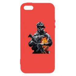 Чехол для iPhone5/5S/SE Battlefield Warrior