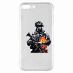 Чехол для iPhone 8 Plus Battlefield Warrior