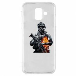 Чехол для Samsung A6 2018 Battlefield Warrior