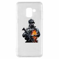 Чехол для Samsung A8 2018 Battlefield Warrior