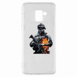 Чехол для Samsung A8+ 2018 Battlefield Warrior