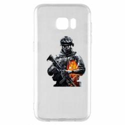 Чехол для Samsung S7 EDGE Battlefield Warrior
