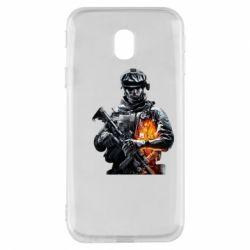 Чехол для Samsung J3 2017 Battlefield Warrior