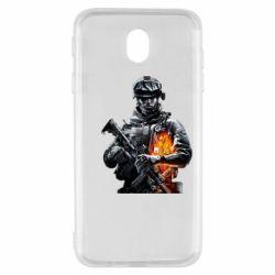 Чехол для Samsung J7 2017 Battlefield Warrior