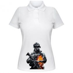Женская футболка поло Battlefield Warrior