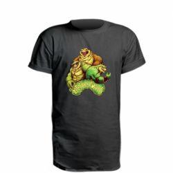Удлиненная футболка Battletoads art