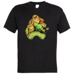 Мужская футболка  с V-образным вырезом Battletoads art