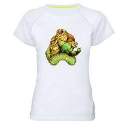 Женская спортивная футболка Battletoads art