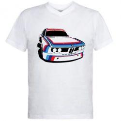 Мужская футболка  с V-образным вырезом Bavarian Motor Works - FatLine