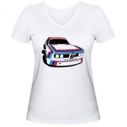 Женская футболка с V-образным вырезом Bavarian Motor Works - FatLine