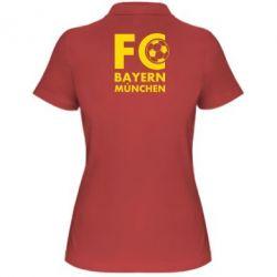 Женская футболка поло Бавария Мюнхен