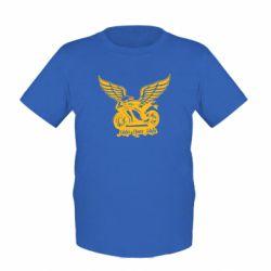 Детская футболка Байк с крыльями - FatLine