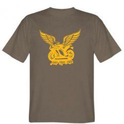 Мужская футболка Байк с крыльями - FatLine