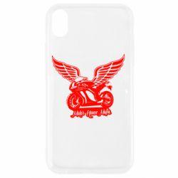 Чехол для iPhone XR Байк с крыльями