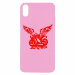 Чехол для iPhone Xs Max Байк с крыльями