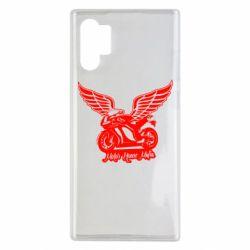 Чехол для Samsung Note 10 Plus Байк с крыльями