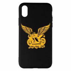 Чехол для iPhone X/Xs Байк с крыльями