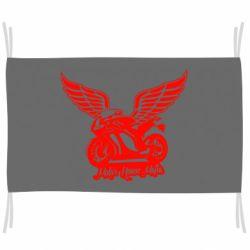 Флаг Байк с крыльями