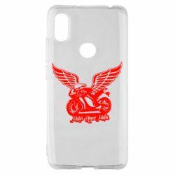 Чехол для Xiaomi Redmi S2 Байк с крыльями