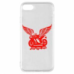 Чехол для iPhone 8 Байк с крыльями